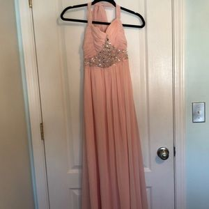 Dusty rose prom dress